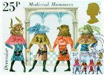 Medieval Mummers on British Postage stamp